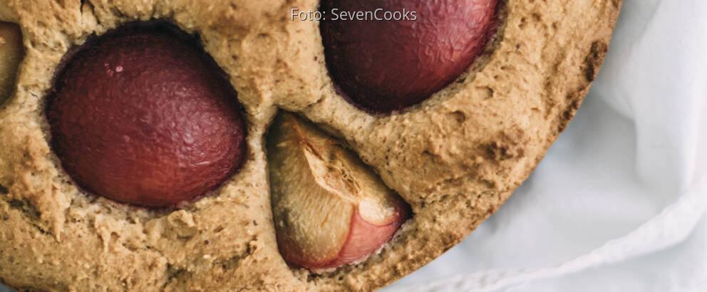 Veganes Rezept: Versunkener Pflaumenkuchen