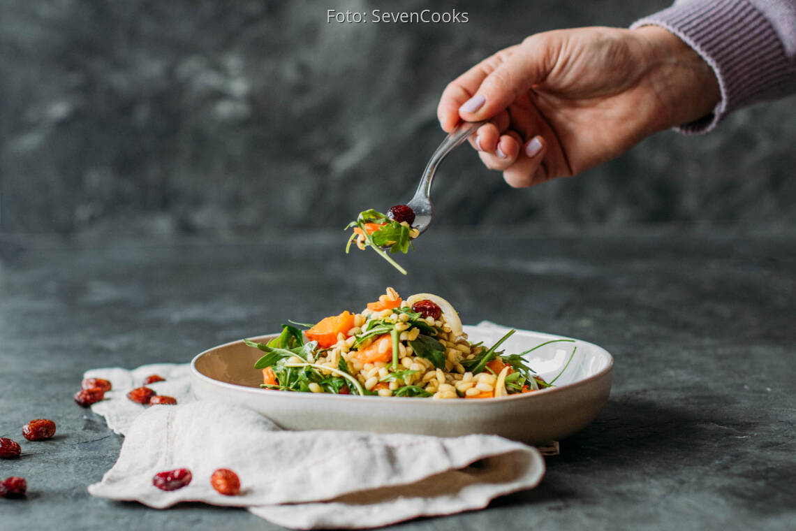 Veganes Rezept: Warmer Graupensalat 1