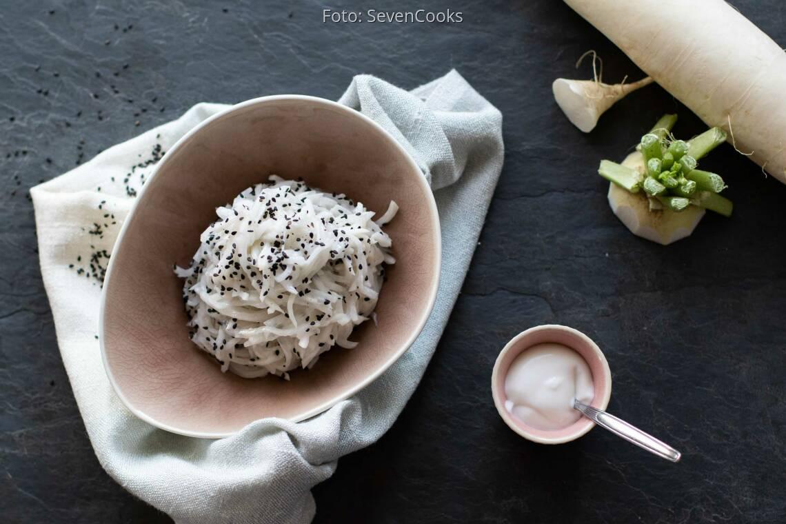 Veganes Rezept: Weißer Rettichsalat_1