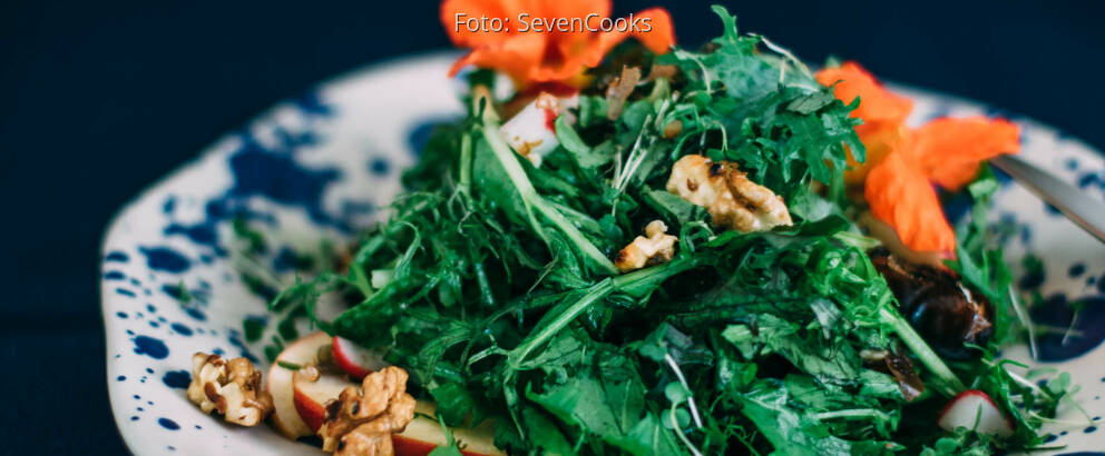 Veganes Rezept: Wildkräutersalat