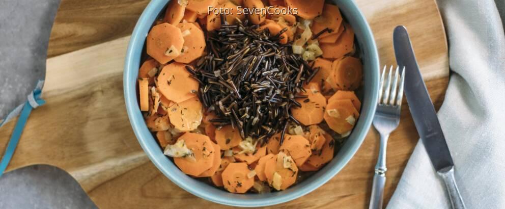 Veganes Rezept: Wildreis mit Karotten-Thymian-Gemüse 2