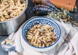 Veganes Rezept: Wirsing, Pilz One Pot Pasta 1