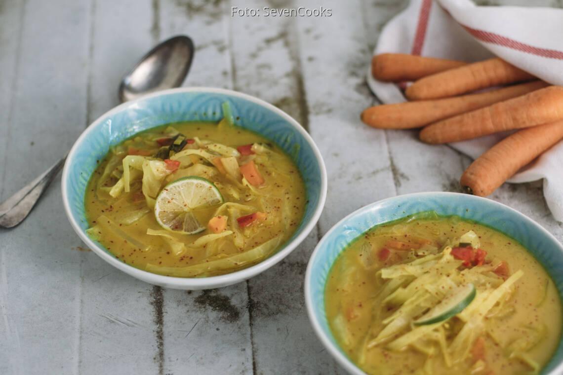 Veganes Rzept: Asiatische Kohlsuppe 1