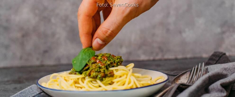 Veganes Spinat Pesto mit Spaghetti 2