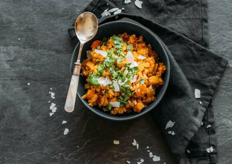 Regional, saisonal und gesund Rezept für leckeres Steckrüben-Curry.