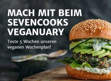 Veganuary Banner Wochenplan Teste 5 Wochen