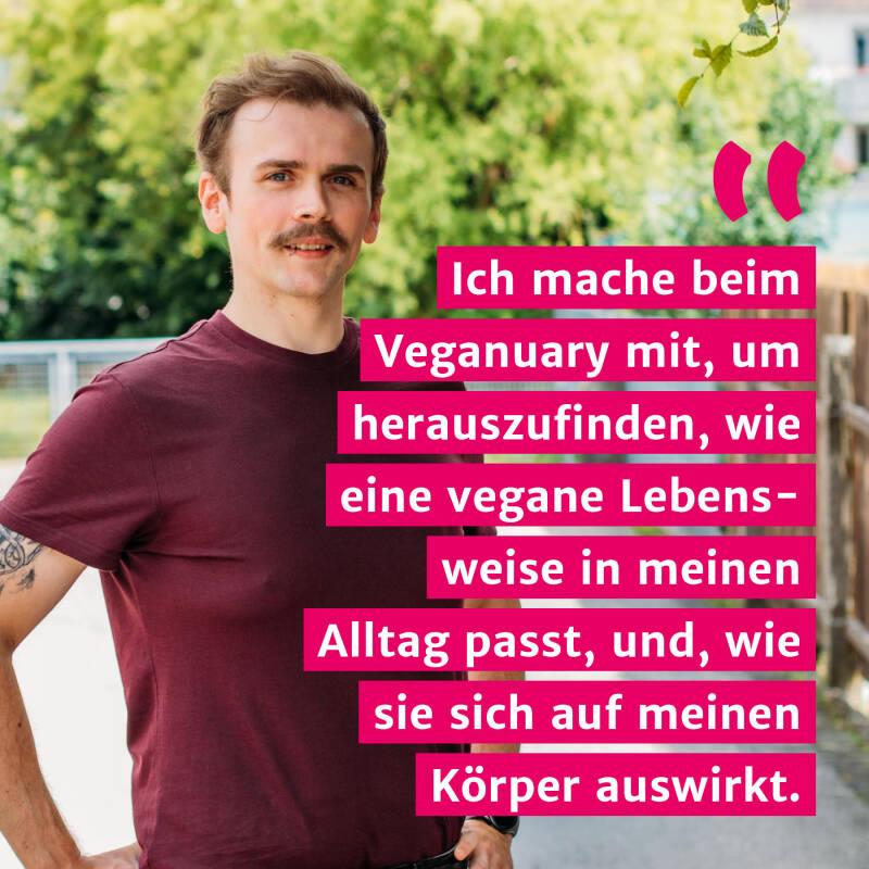 Veganuary-Teilnehmer Paddy