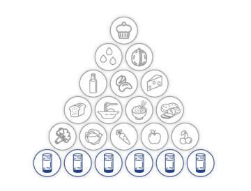 Vegetarische Ernährungspyramide - Wasseranteil