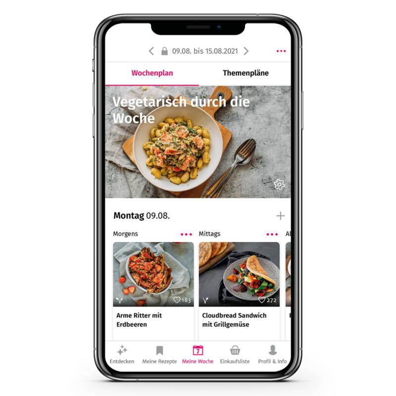 Vegetarischer Wochenplan in der SevenCooks App