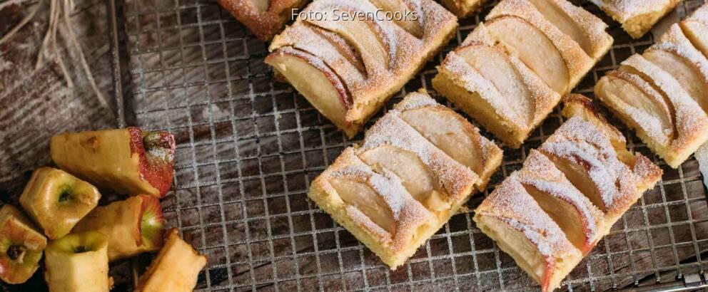 Vegetarisches Rezept: Apfelkuchen vom Blech_2