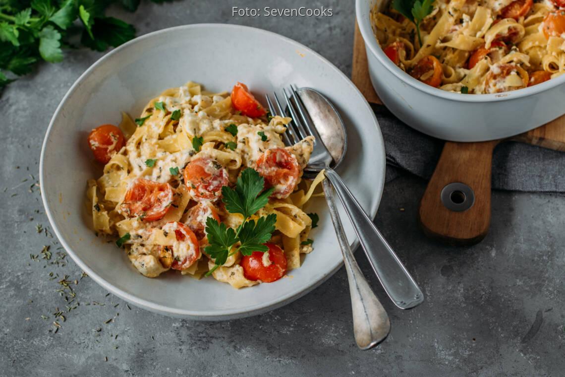 Vegetarisches Rezept: Baked Feta Pasta 1