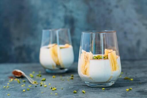 Vegetarisches Rezept: Bananenjoghurt