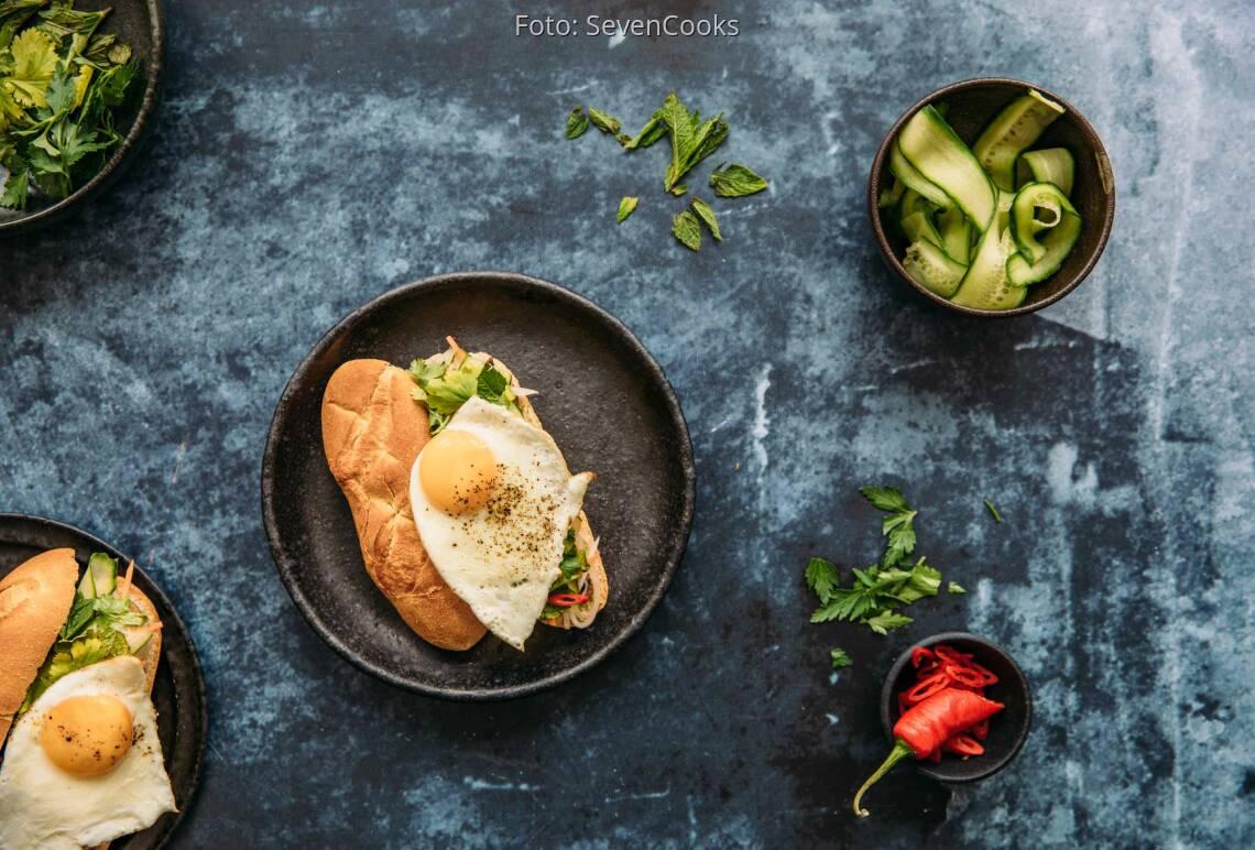 Vegetarisches Rezept: Banh  Mi Sandwich