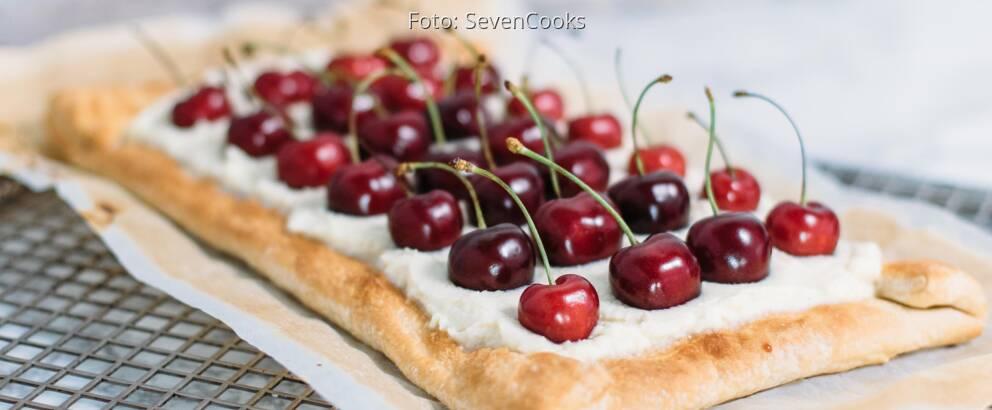 Vegetarisches Rezept: Blätterteig-Tarte mit frischen Kirschen_2