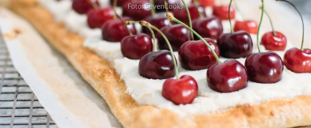 Vegetarisches Rezept: Blätterteig-Tarte mit frischen Kirschen_3