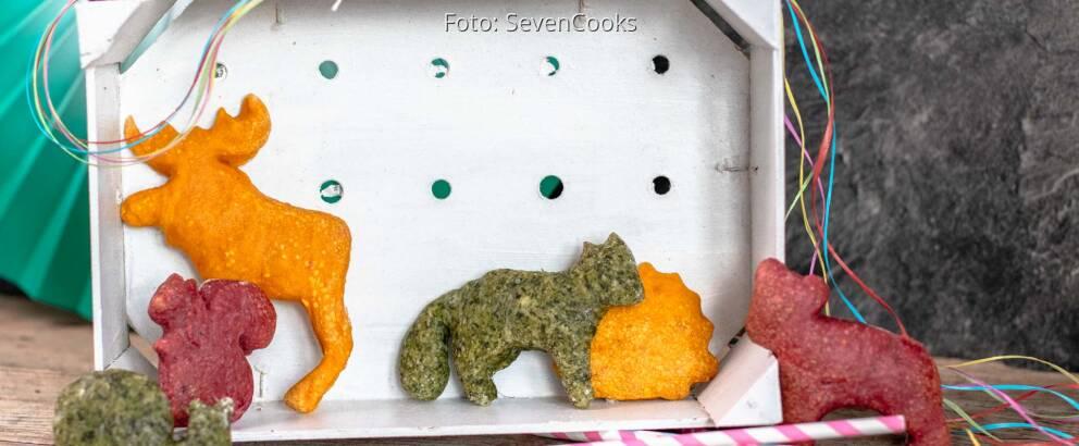 Vegetarisches Rezept: Bunte Tierbrote 1