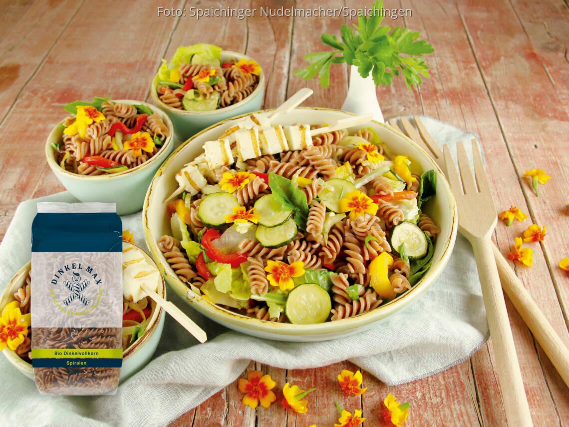 Vegetarisches Rezept: Dinkelvollkorn Spiralen mit Grillgemüse-Salat von DINKEL MAX
