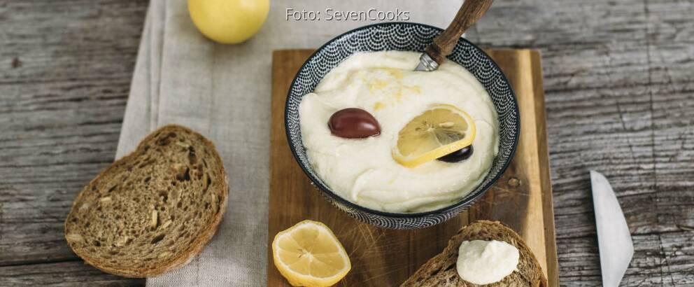 Vegetarisches Rezept: Feta-Zitronen-Dip