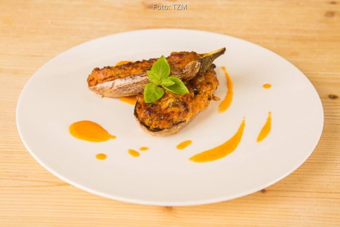 Vegetarisches Rezept: Gefüllte Auberginen 1
