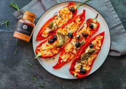 Vegetarisches Rezept: Gefüllte Paprika vom Grill 1