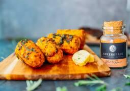 Vegetarisches Rezept: Gegrillter Maiskolben in Orangen-Curryglasur 1