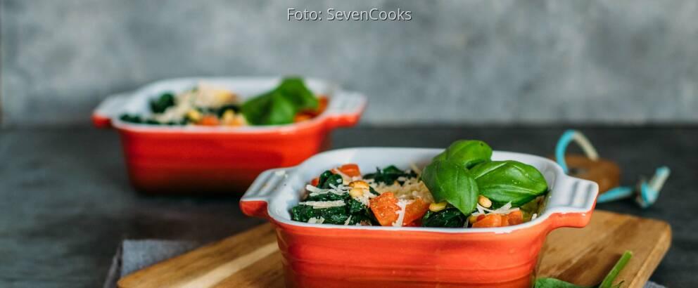 Vegetarisches Rezept: Gnocchi-Spinat-Auflauf 2
