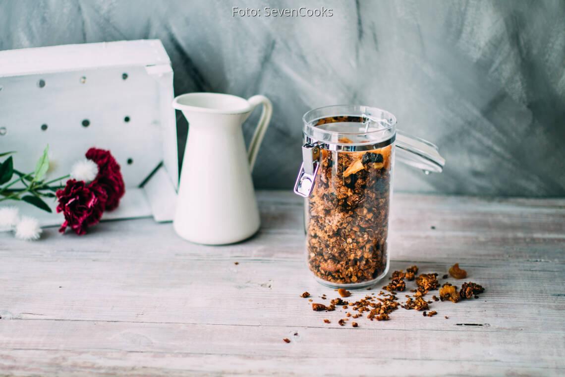Vegetarisches Rezept: Granola Knuspermüsli