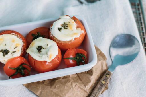 Vegetarisches Rezept: Gratinierte Amaranth-Tomaten aus dem Ofen_1
