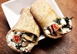 Vegetarisches Rezept: Griechische Pfannkuchenwraps