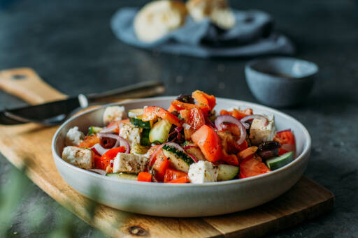 Vegetarisches Rezept: Griechischer Salat
