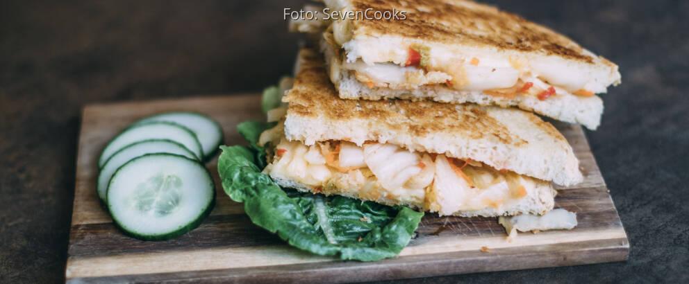 Vegetarisches Rezept: Grilled Cheese Sandwich mit Kimchi