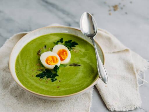 Vegetarisches Rezept: Grüne Spargelsuppe 1