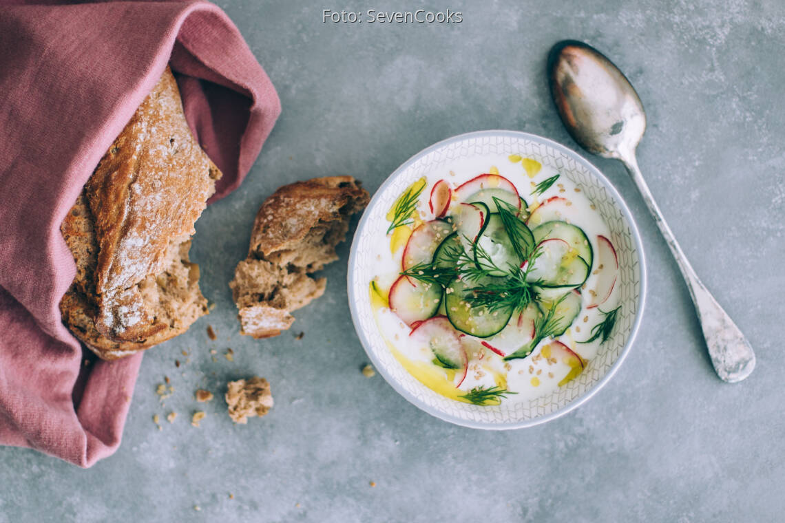 Vegetarisches Rezept: Herzhafter Joghurt griechischer Art