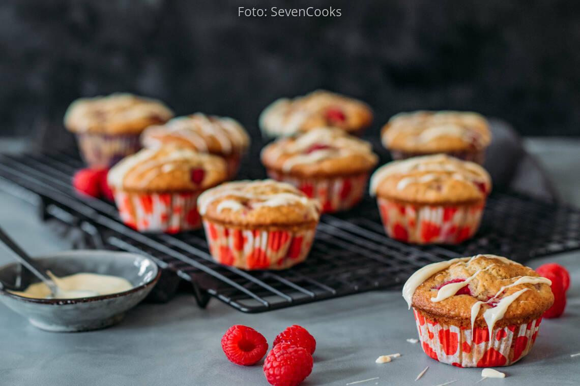 Vegetarisches Rezept: Himbeer Muffins