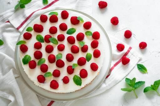 Vegetarisches Rezept: Himbeer-Joghurt-Torte 1