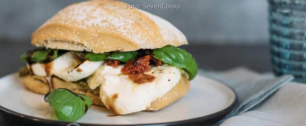 Vegetarisches Rezept: Italian-Caprese-Sandwich