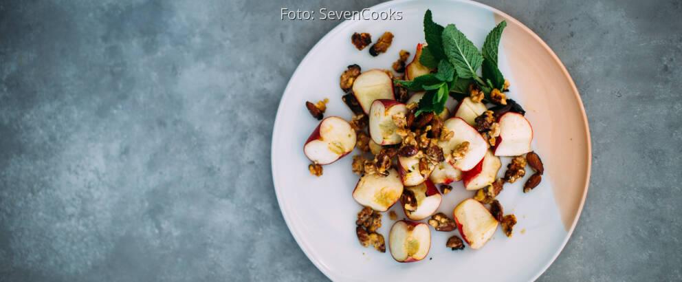 Vegetarisches Rezept: Karamellisierte Pfirsiche