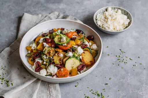 Kartoffel-Gemüse-Pfanne mit Feta