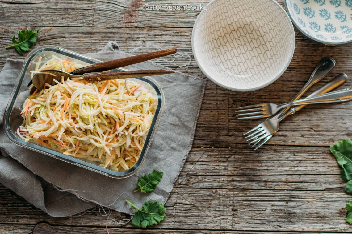 Vegetarisches Rezept: Kohlrabi Coleslaw