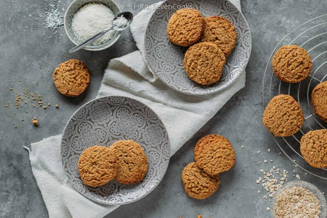 Vegetarisches Rezept: Kokos-Haferflocken-Kekse 1