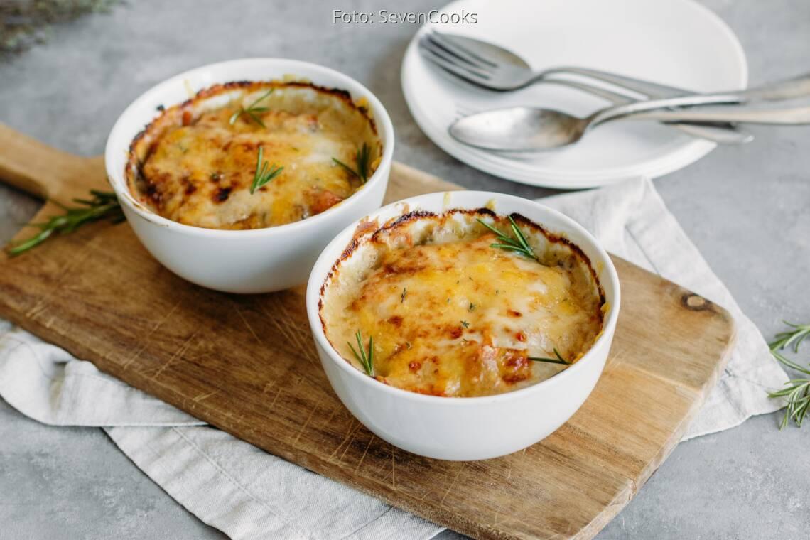 Vegetarisches Rezept: Kürbis-Graupen-Auflauf 1