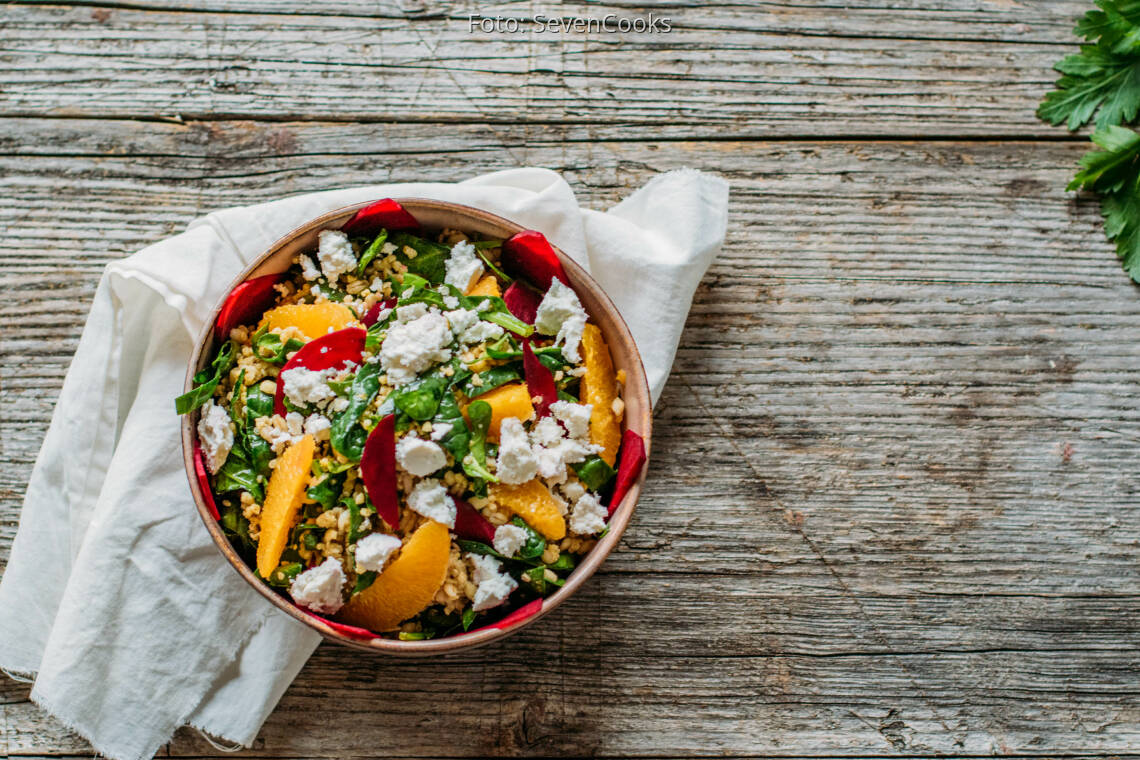 Vegetarisches Rezept: Körnersalat 3