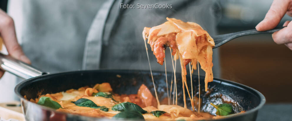 Vegetarisches Rezept: Lasagne aus der Pfanne