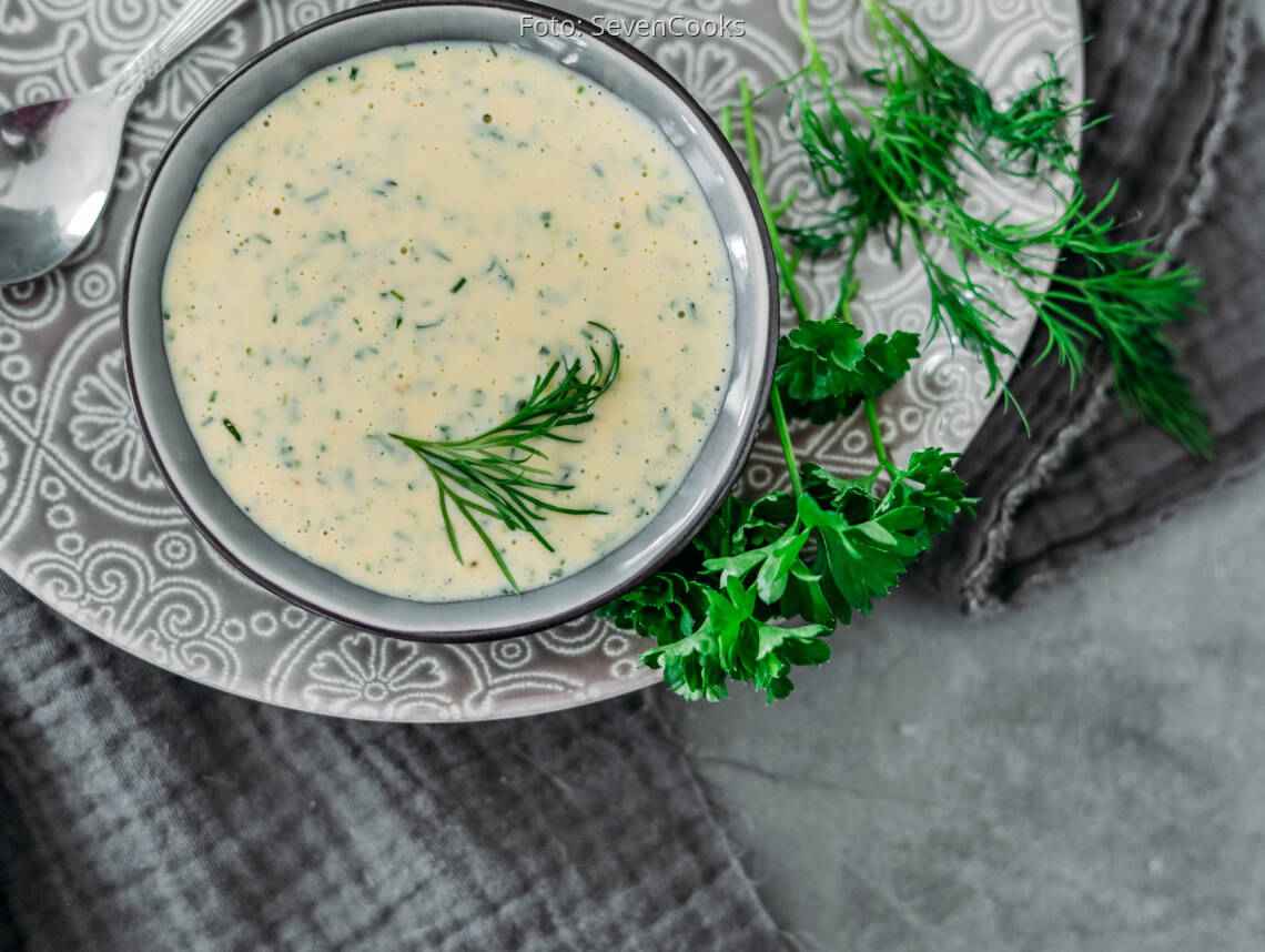 Vegetarisches Rezept: Leichte Kräutermayonnaise 1