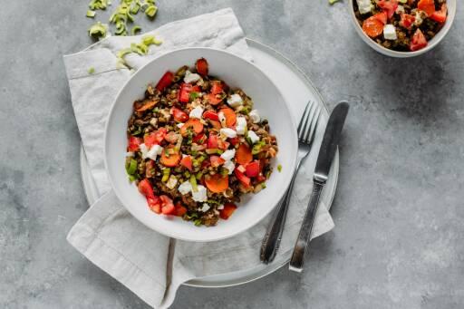 Vegetarisches Rezept: Linsensalat 1