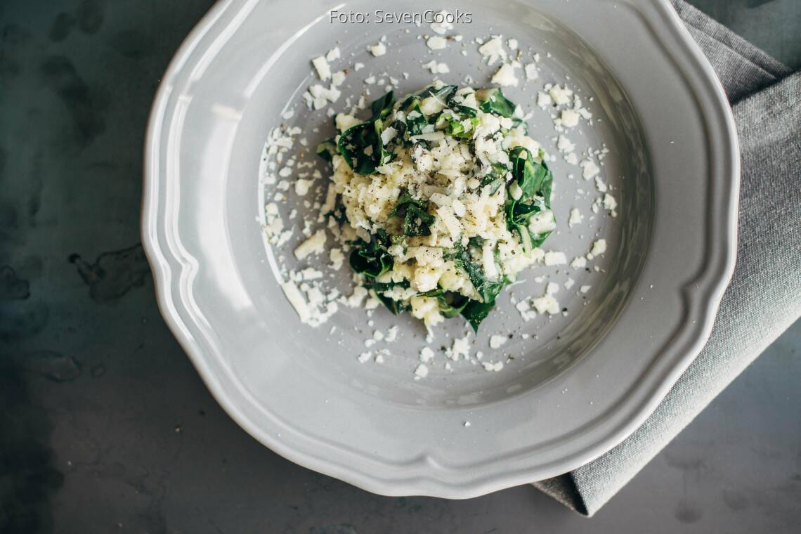 Vegetarisches Rezept: Mangold-Risotto
