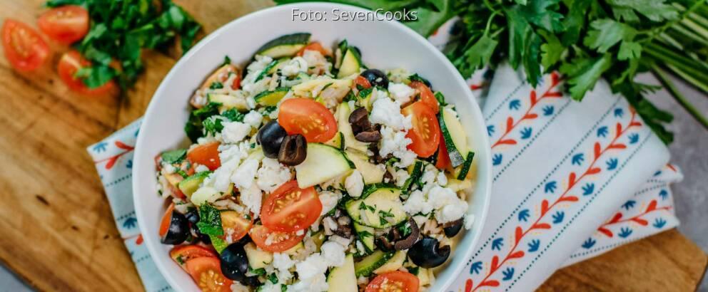 Vegetarisches Rezept: Mediterraner Reissalat_3