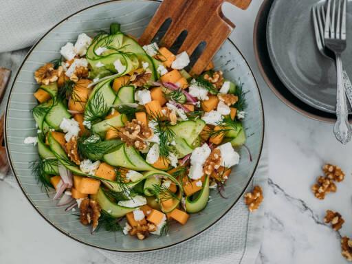 Vegetarisches Rezept: Melonensalat 1