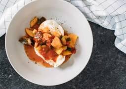 Vegetarisches Rezept: Mozzarella mit mediterranem Gemüse_1