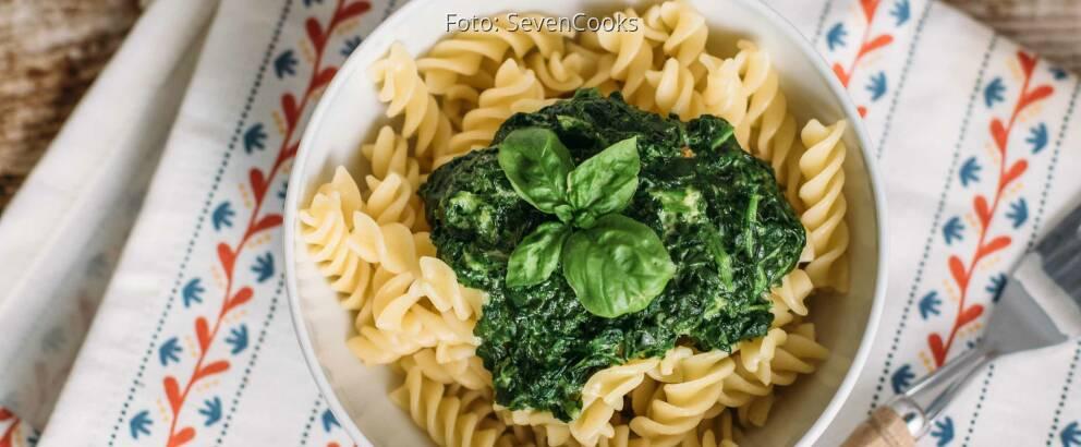 Vegetarisches Rezept: Nudeln mit Spinatsoße_2